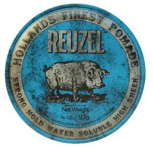 Reuzel Finest Pomade Blue Strong Hold Water Soluble High Sheen 340 gr - starker Halt