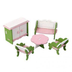 Puppenhaus möbel Miniatur Kinder Holz spielzeug Set von
