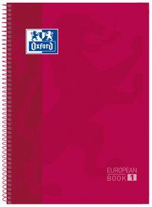 Oxford Collegeblock European Book 1 DIN A4+ kariert rot 80 Blatt