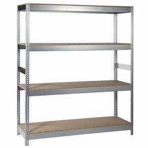 Ironside 140-092 Steckr.Holz/Metall180x150 4 Böden, Tragkraft 400kg (1 Stück)