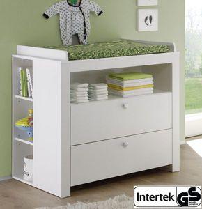 Babyzimmer Wickelkommode in weiss als Set  mit Regal  96 x 102 x 76 cm Babymöbel Olivia