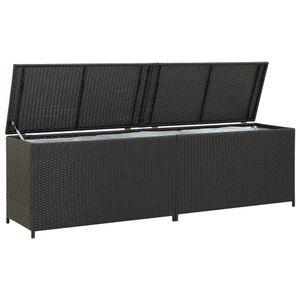 vidaXL Gartenbox Poly Rattan 200x50x60 cm Schwarz