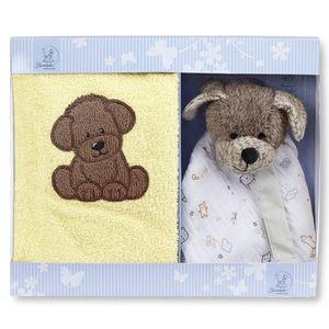 Sterntaler Geschenk-Set Hanno 9701961 - Sterntaler Kinderhandtuch und Schmusetuch Hund 2 Teile