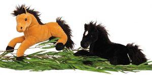 Pferd Schwarz 37 cm Kuscheltier