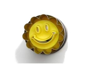 Neustanlo® Mini Linzer Ausstechform mit Auswerfer 3,6 cm Ø Lachender Smiley