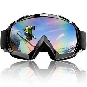 Hengda Skibrille, Snowboard Brille fuer Damen und Herren Doppel-Objektiv OTG UV-Schutz Anti Fog Snowboardbrille Schutzbrille Helmkompatibel fuer Skifahren Motorrad Fahrrad Skaten