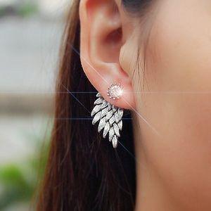 Strass Engelsflügel Form Ohrstecker Ohrringe Ohrhänger Ohrschmuck Geschenk Silber Anhänger
