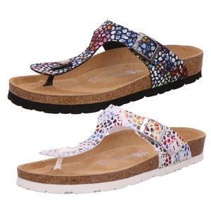 Rohde 5601 Alba Damen Schuhe Zehentrenner Pantoletten Zehensteg, Größe:40 EU, Farbe:Schwarz