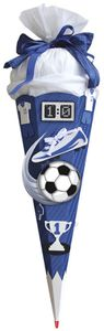 ROTH Schultüte-Bastelset Soccer blau/weiß 68 cm, 6-eckig