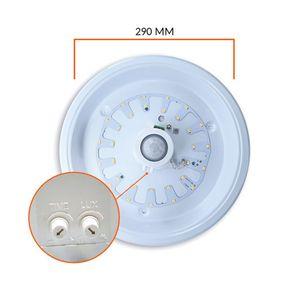 15W LED Deckenleuchte mit Bewegungsmelder Bewegungssensor 290mm Warmweiß