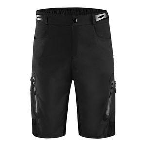Männer Fahrrad Shorts Übung Casual Outdoor Short Hosen Reithose Sportswear XL Schwarz Pure Farbe