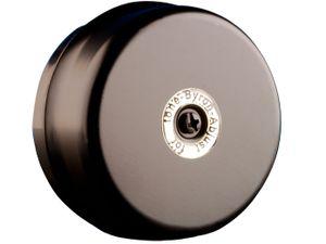 Elektrische 2 Draht Türklingel schwarz rund klassischer Klingelton, Türglocke