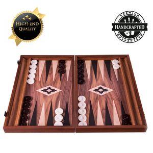 Backgammon mit Walnussdruck 48x60 cm - Luxus -  Spitzenqualität