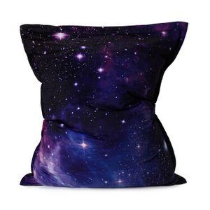 """Lumaland XXL Sitzsack Limited Edition """"Galaxy"""" mit Print Sternengalaxie, 140x180cm Indoor / Outdoor Sitzkissen  inkl. Füllung 380 Liter EPS-Perlen"""