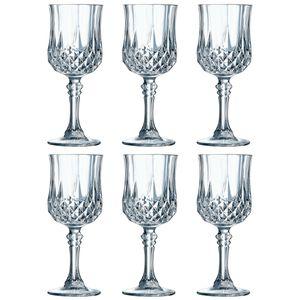 Cristal d'Arques 23222 Longchamp ECLAT Rotweinkelch 250 ml, Glas, klar (6er Pack)