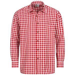 Trachtenhemd Günther Regular Fit in Rot von Schweighart, Größe:44, Farbe:Rot