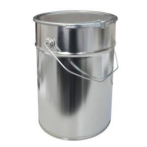 12 Liter Weißblecheimer Hobbock inkl. Deckel mit Spannring | Stabiler Metallgriff | Luft und Flüssigkeitsdicht | Robust und Stapelbar | Gefahrgut Tauglich | Verzinntes Stahlblech