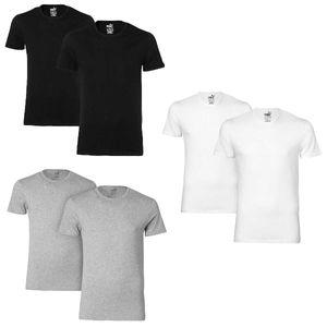 Puma BASIC CREW TEE T-Shirt 2er Pack black XL