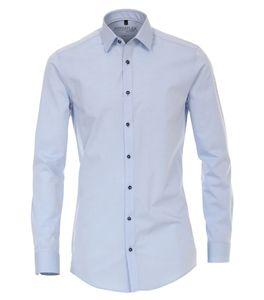 Hyperflex - Venti - Body Fit - Bügelfrei, Herren Hemd mit Kent-Kragen in weiß oder blau (182920800), Größe:36, Farbe:Blau (100)