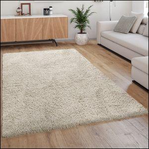 Hochflor Teppich Shaggy Kuschelig Weicher Flokati Teppich Einfarbig In Beige, Grösse:160x230 cm
