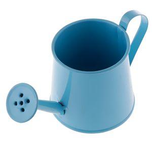 Hirtenart Bunte Zinn Blumen Topf Minibonsais Gießkannen Topf Farbe Blau