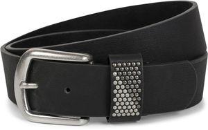 styleBREAKER Gürtel mit zweifarbigen Nieten an der Schlaufe, Nietengürtel, kürzbar, Unisex 03010088, Farbe:Weiß, Größe:105cm
