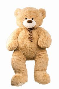 XXL Teddy Bär Hellbraun 1,5 m flauschig mit Schleife