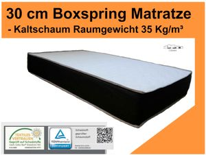 "Höhe 30 cm !! ✔ - Boxspring Matratze - RG 35 Kg/m³ -Härtegrad: H2/H3  ""Größe: 180 x 200 cm"""