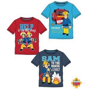 Rundhals T-Shirt Feuerwehrmann Sam Motiv