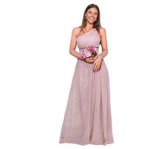 Krisp Damen One-Shoulder-Abendkleid, lang KP118 (44 DE) (Taupe)
