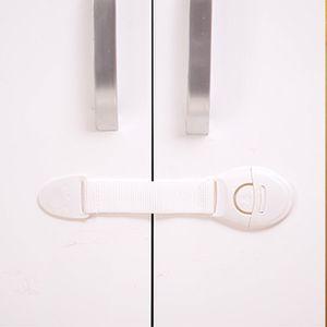 10pcs Baby-Sicherheits-Schlösser Mehrzweck Kind Proof-Bügel-Verschluss für Cabinet Schrankschublade Kühlschrank ohne Werkzeug (weiß)