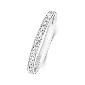 Platin 950 2,2mm Eternity Damen - Diamant Trauring/Ehering/Hochzeitsring Brillant-Schliff 0.30 Karat G - SI1, 55 (17.5); WJS2048PT950