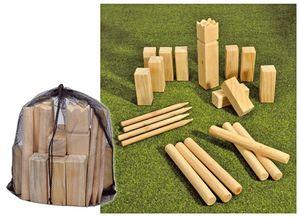 Kubb Spiel Wurfspiel Rasenschach Wikingerspiel Spielzeug Schach Outdoor Holz