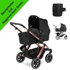ABC Design Salsa 4 Air mit Gratis Becherhalter und Regenschutz, Farbe Kinderwagen:Rose Gold