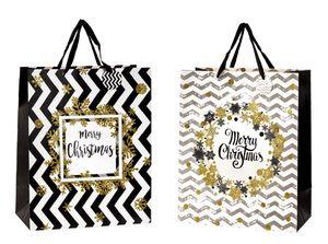 6 Stück XL Geschenktüte Merry Christmas 40,5 x 50 x 20,5 cm