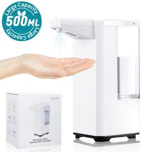 Automatischer Desinfektionsspender Sensor 500ml Berührungsloser Desinfektionsmittelspender Automatisk Sprühspender
