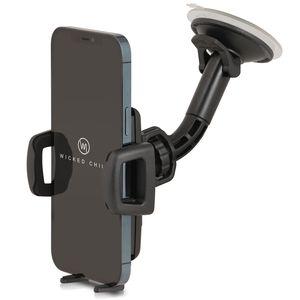 Wicked Chili Universal KFZ Halterung kompatibel mit iPhone 13 Pro Max, 12 Pro Max, XS Max, Samsung Galaxy S20 Ultra, S20+, Note 20 Ultra,  Germany (Breite 56-86mm, für Hülle und Case) schwarz