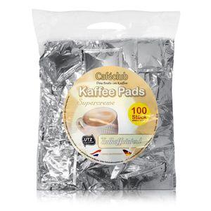 Cafeclub Supercreme Megabeutel Kaffeepads koffeinfrei 100 Stück normale Röstung