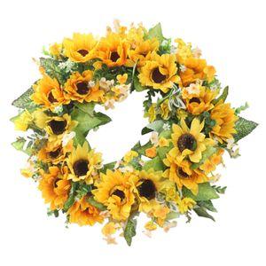 1 Stück Blumenkranz Farbe Sonnenblume