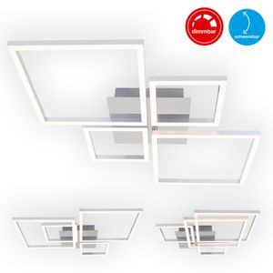 LED Deckenleuchte schwenkbar dimmbar 48 W chrom-silberfarbig Briloner Leuchten