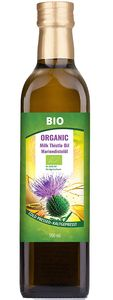 Organic Mariendistel Oil, Omega-6, Kaltgepresst, 500ml,Mariendistelöl
