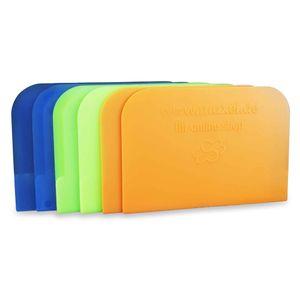 Einfache Teigkarte 6 Stück Teigschaber, Teigschaberkarte oder Teigbrotschneider zum Backen aus Kunststoff Schüsselschaber, Scraper zum Glattstreichen von Teig flexibles Material