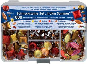 """KREUL Schmucksteine Set Hobby Line """"Indian Summer"""" 1.000 Schmucksteine"""
