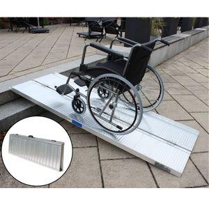 Rollstuhlrampe 213 cm klappbar leicht Alu Auffahrrampe Schwellenrampe