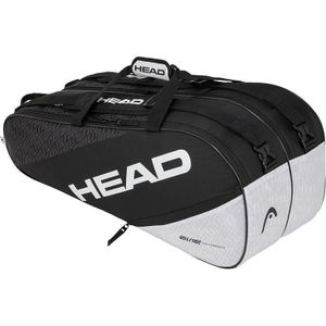 HEAD Elite 9R Supercombi Tennistasche Schwarz - Weiß