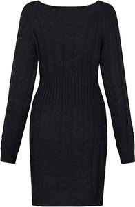 Damen Schulterfrei PulloverKleid Strickkleid Sweater Oberteile Sweatshirt Tops Bluse Lang L