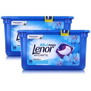 Lenor Allin1 Pods Waschmittel Aprilfrisch 38 WL (2er Pack) Gesamt 76 WL
