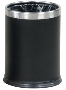 RUBBERMAID Hide-A-Bag - Abfallbehälter 13,2 L feuerfest aus Stahl, Farbe:Schwarz