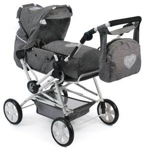 Kombi-Puppenwagen ROAD STAR, Jeans grey