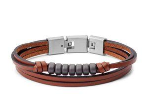 Fossil Herren-Armband Vintage Casual Leder JF03128040